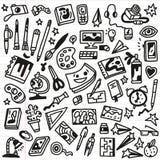 Τέχνη Doodles - διάνυσμα Στοκ Εικόνες