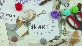 Τέχνη Hashtag και δημιουργικός απόθεμα βίντεο