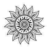 Τέχνη Mandala με τα αφηρημένα μοτίβα στοκ φωτογραφία