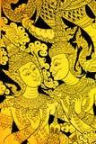 τέχνη mural Ταϊλανδός Στοκ φωτογραφία με δικαίωμα ελεύθερης χρήσης