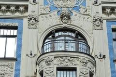 Τέχνη Nouveau fasade Στοκ εικόνα με δικαίωμα ελεύθερης χρήσης