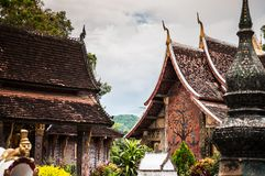 Τέχνη TMural του λουριού Wat Xieng, Luang Prabang, Λάος Στοκ εικόνα με δικαίωμα ελεύθερης χρήσης