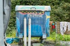 Τέχνη trashcan στοκ εικόνες με δικαίωμα ελεύθερης χρήσης