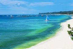 Τέλεια παραλία του νησιού Boracay Στοκ Εικόνα