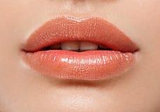 Τέλεια χείλια Προκλητικός στοματικός στενός επάνω κοριτσιών νεολαίες γυναικών χαμόγ&eps Στοκ φωτογραφία με δικαίωμα ελεύθερης χρήσης