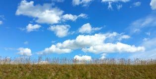 τέλειος ουρανός χλόης π&epsilo Στοκ Φωτογραφίες