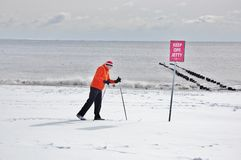 Τέλειο να κάνει σκι μετά από τη χιονοθύελλα στη Νέα Υόρκη Στοκ Εικόνα