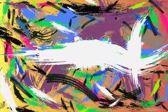 Τέλειο υπόβαθρο κτυπημάτων Watercolor πολύχρωμο για το κείμενό σας Στοκ εικόνες με δικαίωμα ελεύθερης χρήσης