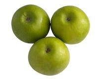 Τέλειο φρέσκο πράσινο μήλο που απομονώνεται Στοκ Εικόνα