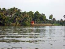 Τέλματα του Κεράλα με μια μικρή καλύβα Στοκ Εικόνες