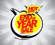 Τέλος της πώλησης έτους, καυτό σχέδιο λαϊκός-τέχνης προσφοράς απεικόνιση αποθεμάτων