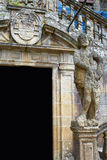 Τέλος του Σαντιάγο de Compostela του τρόπου Αγίου James Στοκ φωτογραφία με δικαίωμα ελεύθερης χρήσης