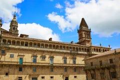 Τέλος του Σαντιάγο de Compostela του τρόπου Αγίου James Στοκ φωτογραφίες με δικαίωμα ελεύθερης χρήσης