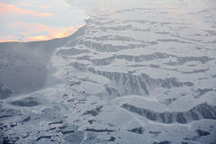 Τήξη παγόβουνων της Σιβηρίας στοκ φωτογραφία με δικαίωμα ελεύθερης χρήσης