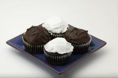 τήξη σοκολάτας cupcakes Στοκ Εικόνα