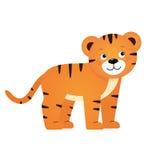 Τίγρη, απεικόνιση για τα παιδιά Στοκ εικόνα με δικαίωμα ελεύθερης χρήσης