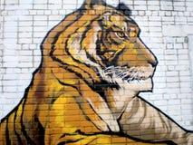 Τίγρη γκράφιτι Στοκ φωτογραφίες με δικαίωμα ελεύθερης χρήσης