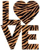 τίγρη θηλαστικών αγάπης απεικόνισης κοριτσιών αγοριών Στοκ φωτογραφία με δικαίωμα ελεύθερης χρήσης