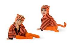 τίγρη κοστουμιών παιδιών Στοκ Εικόνες