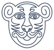 τίγρη σεβασμού μασκών Στοκ Φωτογραφία