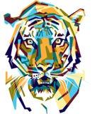 Τίγρη Colorfully Στοκ εικόνα με δικαίωμα ελεύθερης χρήσης