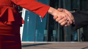 τίναγμα χεριών επιχειρημα&ta απόθεμα βίντεο