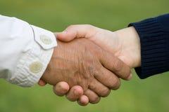 τίναγμα χεριών Στοκ φωτογραφία με δικαίωμα ελεύθερης χρήσης