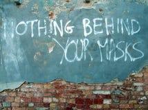 Τίποτα πίσω από τις μάσκες σας στοκ εικόνες