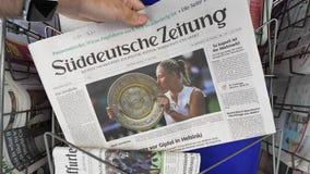 Τίτλος αντισφαίρισης νίκης της Angelique Kerber σε Wimbledon απόθεμα βίντεο