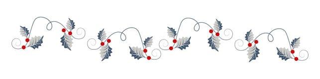 Τίτλος Ιστού Χριστουγέννων με τα ιερά φύλλα ελεύθερη απεικόνιση δικαιώματος