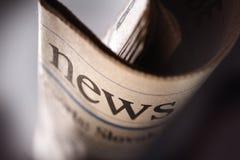 Τίτλος εφημερίδων στοκ φωτογραφίες