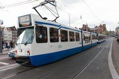 Τίτλος τραμ (τοπική μεταφορά μετρό) στον κεντρικό σταθμό του Άμστερνταμ Στοκ Εικόνες
