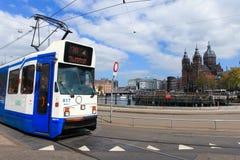 Τίτλος τραμ (τοπική μεταφορά μετρό) στον κεντρικό σταθμό του Άμστερνταμ Στοκ εικόνα με δικαίωμα ελεύθερης χρήσης