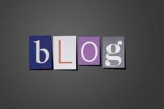 Τίτλος Blog στοκ φωτογραφία με δικαίωμα ελεύθερης χρήσης