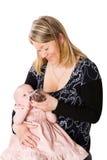 ταΐζοντας μητέρα μωρών Στοκ Φωτογραφία