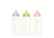 Ταΐζοντας μπουκάλι, μπουκάλι γάλακτος, γάλα μωρών Στοκ φωτογραφία με δικαίωμα ελεύθερης χρήσης