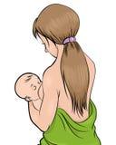 Ταΐζοντας παιδί μητέρων Στοκ Εικόνα