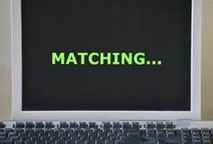 Ταίριασμα λέξης στην οθόνη στοκ φωτογραφίες με δικαίωμα ελεύθερης χρήσης