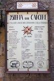Ταβέρνα στο ιστορικό κέντρο του SAN Gimignano, Τοσκάνη, Ιταλία Στοκ Εικόνες