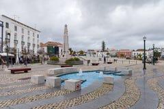 ΤΑΒΊΡΑ, ΝΟΤΙΟ ALGARVE/PORTUGAL - 8 ΜΑΡΤΊΟΥ: Χαρακτηριστικό γνώρισμα νερού στο τ στοκ φωτογραφία με δικαίωμα ελεύθερης χρήσης