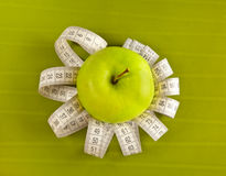 ταινία εικόνων μέτρου μήλων Στοκ φωτογραφία με δικαίωμα ελεύθερης χρήσης