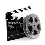 Ταινία κινηματογράφων και πίνακας χειροκροτήματος Στοκ Εικόνα