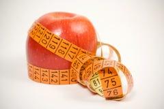 ταινία μέτρησης μήλων Στοκ εικόνα με δικαίωμα ελεύθερης χρήσης