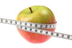 ταινία μέτρου μήλων Στοκ Φωτογραφίες