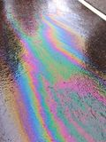 Ταινία πετρελαίου στο δρόμο Στοκ Εικόνα
