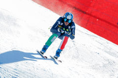 Τακούνι Werner στο αλπικό Παγκόσμιο Κύπελλο σκι Audi FIS - RA των ατόμων προς τα κάτω Στοκ Φωτογραφία
