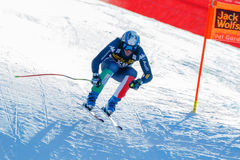 Τακούνι Werner στο αλπικό Παγκόσμιο Κύπελλο σκι Audi FIS - RA των ατόμων προς τα κάτω Στοκ Εικόνα