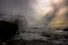 Τακτοποίηση σούρουπου μέσα στην παραλία του σανού Στοκ φωτογραφίες με δικαίωμα ελεύθερης χρήσης