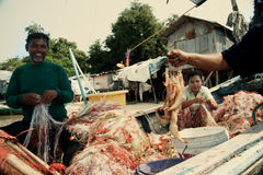 τακτοποίηση Ταϊλάνδη ψαράδων Στοκ Φωτογραφία