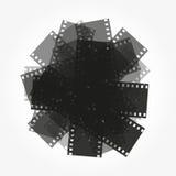 Τακτοποίηση του διανυσματικού υποβάθρου ταινιών Στοκ εικόνα με δικαίωμα ελεύθερης χρήσης